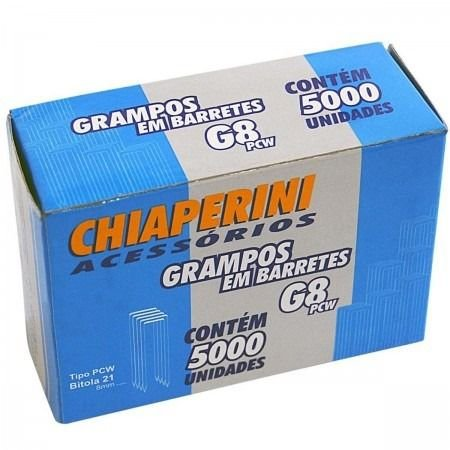 Grampos Em Barretes G8 Pcw - 5000 Un - Chiaperini