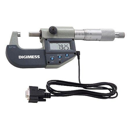 Micrômetro Externo Digital (proteção Ip54) C/ Saída De Dados