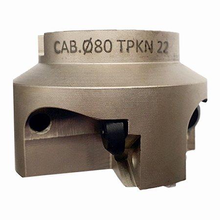 Cabeçote Fresador 80mm para 4 pastilhas TPKN-22