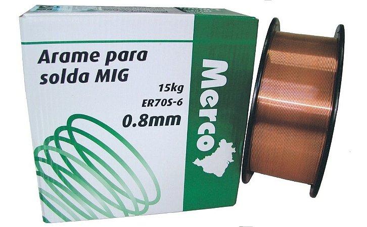 Arame para solda MIG 15kg 0,8mm - MERCO