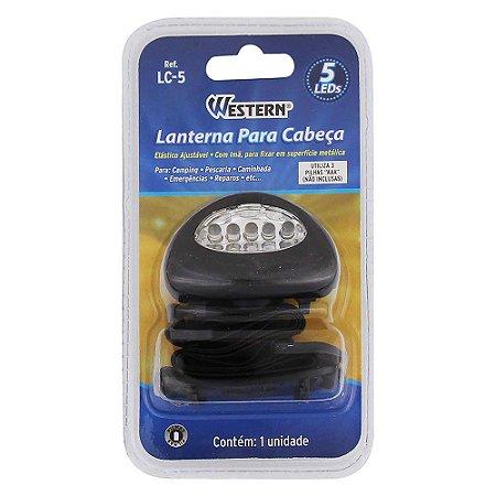 Lanterna Para Cabeça 5 LEDS LC-5 WESTERN