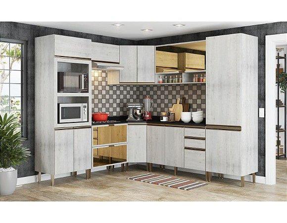 Cozinha modulada 8 peças 100% MDF  Itália - Casamia