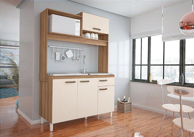Cozinha Compacta 4 portas e 1 gaveta - Yasmin - Móveis Sul