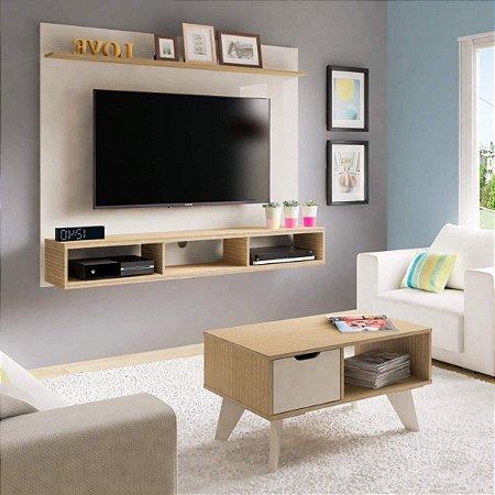 Painel Mister para TV até 50 polegadas e mesa centro VIP - Artely