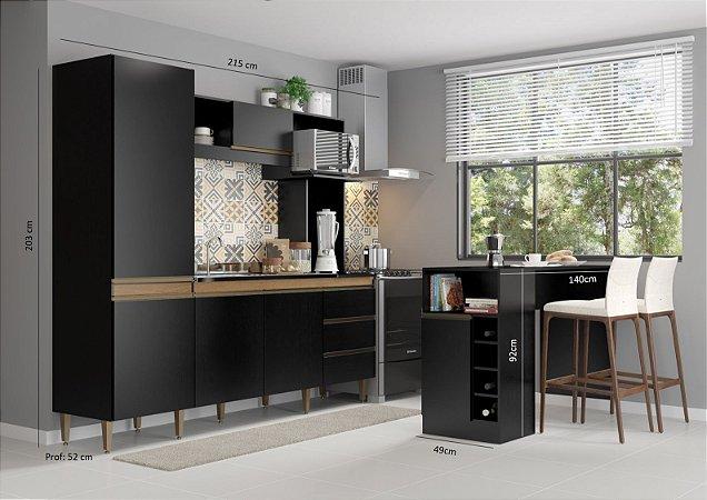 Cozinha Vitória 215cm + Bancada