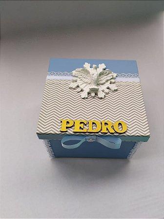 Caixa Convite com moldura Espirito Santo e nome