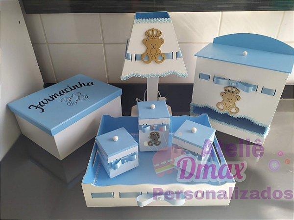 Kit higiene 7 peças  Tema urso