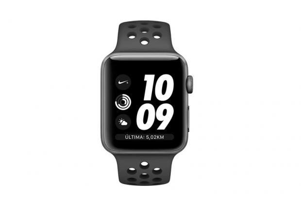 Apple Watch Nike+ (GPs) Serie 3 42mm Caixa cinza espacial com pulseira esportiva - Cinza Carvão / Preto