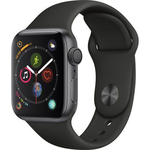 Apple Watch Serie 4 GPS 40mm Caixa de Alumínio Cinza Espacial com Pulseira Esportiva - Preto
