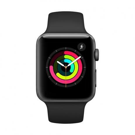 Apple Watch Series 3 (GPS) - 38mm - Caixa Cinza-espacial com Pulseira Esportiva