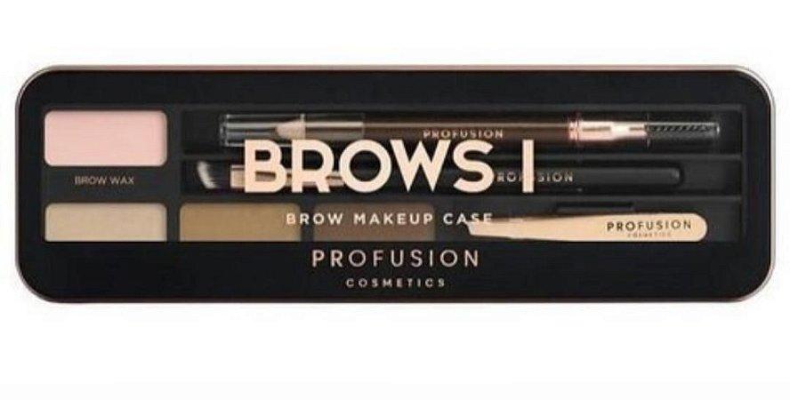 Kit Brows I  paleta de sombra + pinça, pincel e lápis