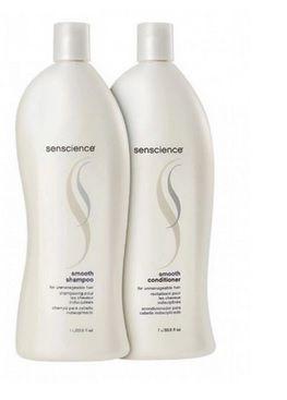 Kit Senscience Smooth Shampoo 1000ml + Condicionador 1000ml
