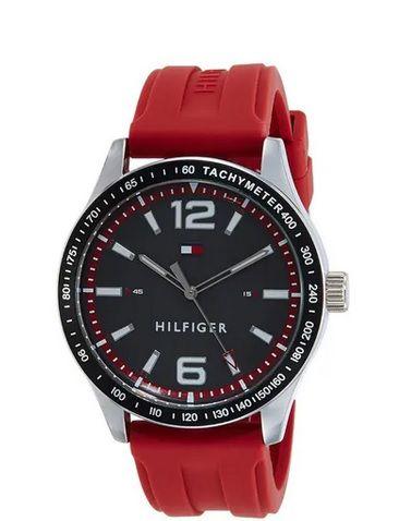 Relógio Tommy Hilfiger Masculino Borracha Vermelha