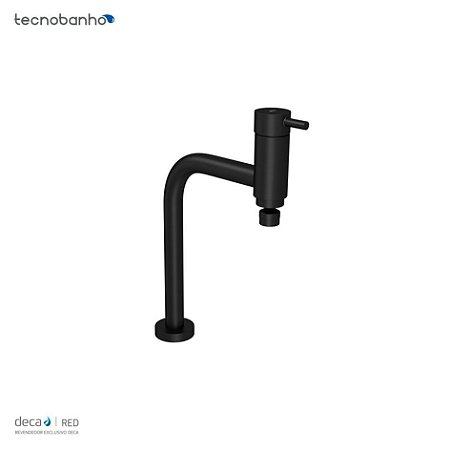 Misturador Monocomando de Mesa para Cozinha Link Black Matte 2256.BL.LNK.MT Deca