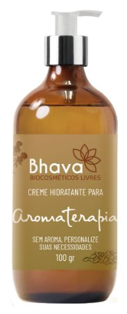 Creme hidratante para aromaterapia natural 100 ml