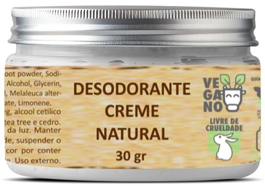 Desodorante creme natural 30 g