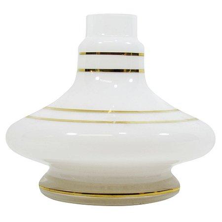 Vaso Shisha Glass Aladin - Branco Gold