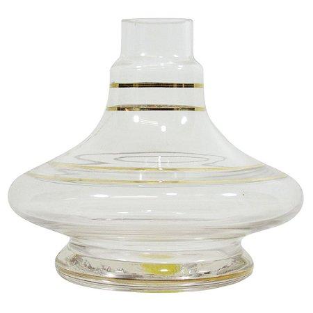 Vaso Shisha Glass Aladin - Transparente Gold
