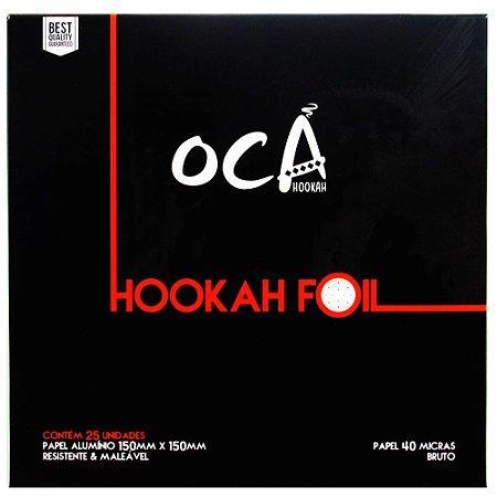 Papel Alumínio Oca Hookah - 25 Unidades