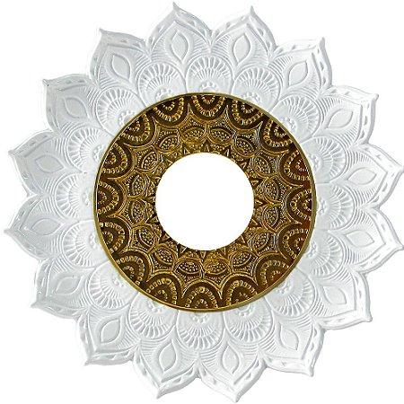 Prato JN Hookah Artemis - Branco /  Dourado