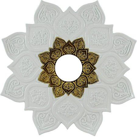Prato JN Hookah Athenas - Branco / Dourado