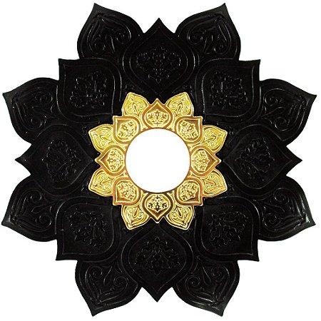 Prato JN Hookah Athenas - Preto / Dourado
