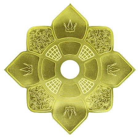 Prato Narguile Hookah King Imperial - Dourado