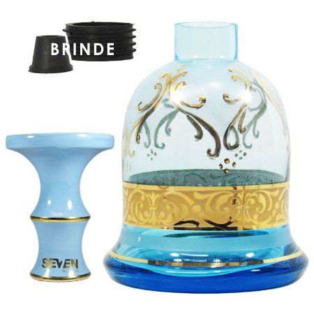 KIT Rosh Seven + Vaso Bless York - Azul - Aquamarine