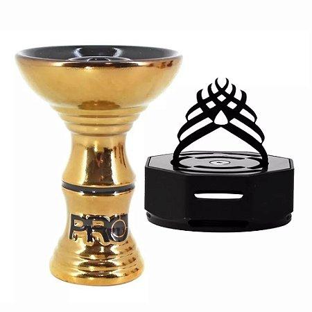 Rosh Pro Hookah Ultra Gold + Marajah Octagon Preto