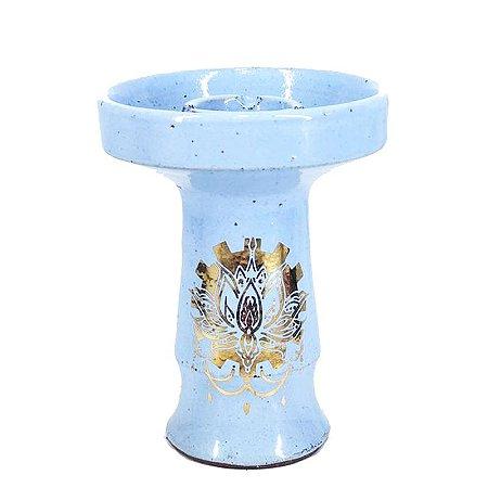 Rosh Beta Bowl - Gold Azul Bebe - Flor de Lotus