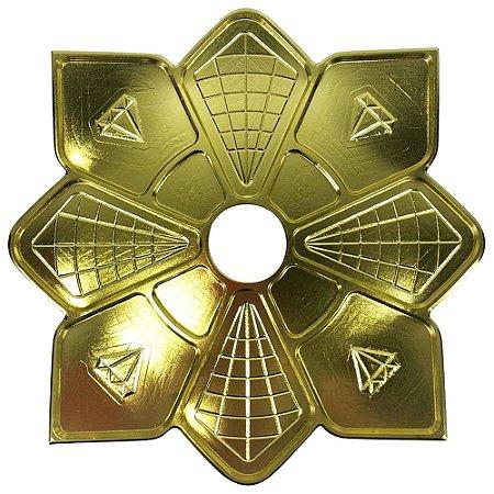 Prato Diamond Dourado Pequeno