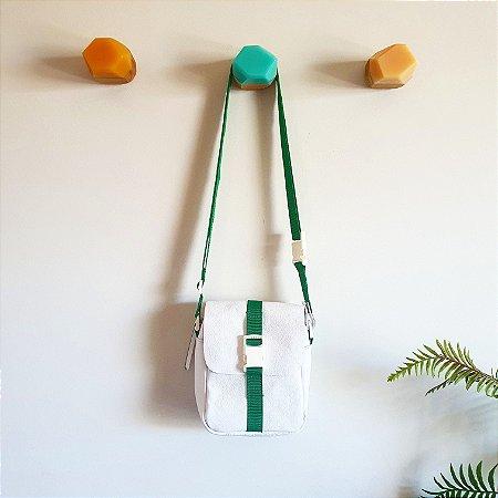 Bolsa Bangu Branca com Verde