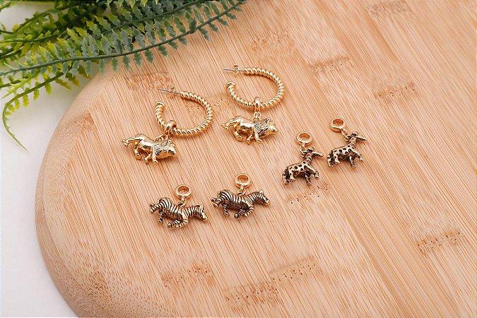 Argola Animal Dourado