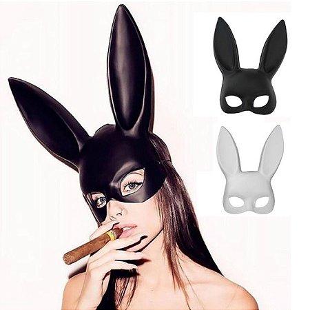 Máscara Coelhinha Sexy BDSM Preto