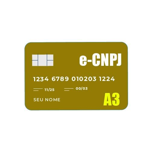 Certificado Digital e-CNPJ A3 - CARTÃO
