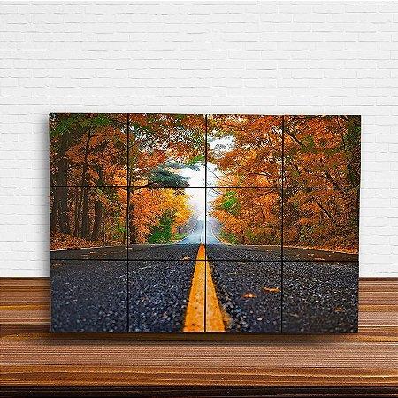Painel Decorativo Estrada Entre Árvores