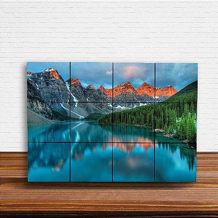 Painel Decorativo Montanhas e Lagoa