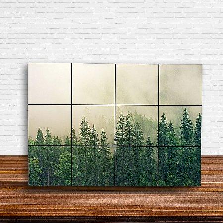 Painel Decorativo Pinheiros Verdes