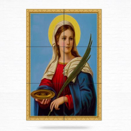 Painel Decorativo de Azulejo de Santa Luzia