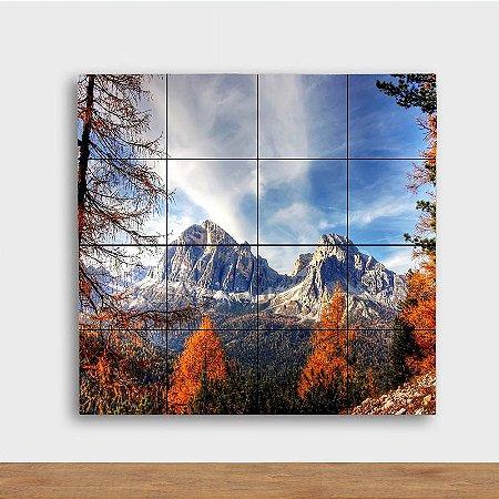 Painel Decorativo Montanha Outono - Quadrado