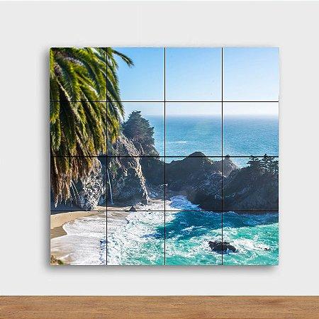 Painel Decorativo Costa da Praia - Quadrado