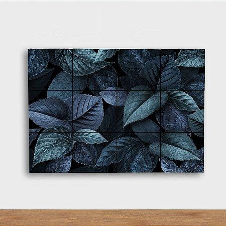 Painel Decorativo Folhagem Azulada