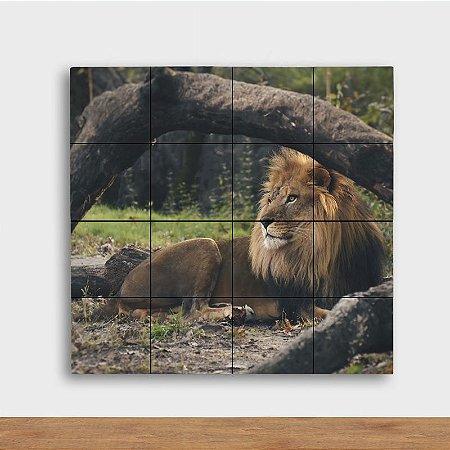 Painel Decorativo Leão - Quadrado