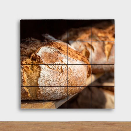 Painel Decorativo Pão Italiano- Quadrado