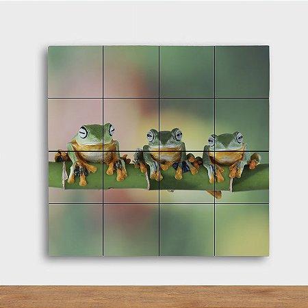 Painel Decorativo Trio Sapos - Quadrado
