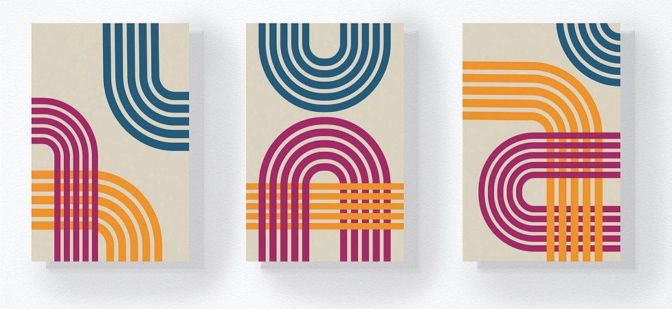 Trio Retangular Azulejos - Formas 2