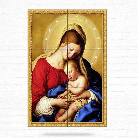 Painel Decorativo de Virgem Maria e Menino Jesus - MOD 02