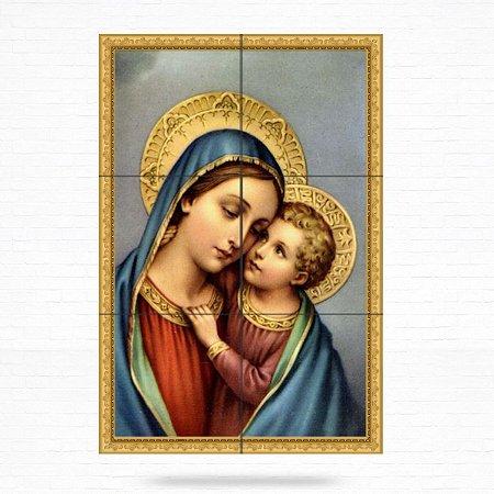 Painel Decorativo de Virgem Maria e Menino Jesus - MOD 03