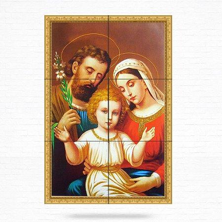 Painel Decorativo de Virgem Maria, José e Menino Jesus