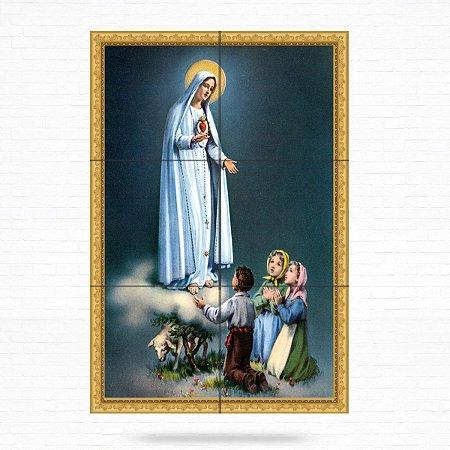 Painel Decorativo de Nossa Senhora de Fátima e Pastorinhos
